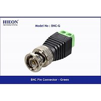 BNC Pin Connector - Green 50 NOS For CCTV Camera