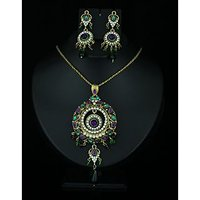 Kriaa Pretty Multicolor Drop Pendant Set  - 2101005