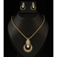 Kriaa Gold Plated Blue Pendant Set  -  2101105
