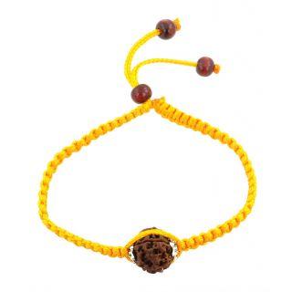 Holy Seven Faceted Rudraksha Adjustable Bracelet For Good Luck
