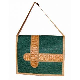 Jute Sling Bag - Green