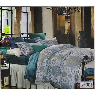Valtellina 100% Cotton Designer King Size Double Bed Sheet (MA-001)