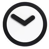 "Mebelkart Nextime ""Focus"" Wall Clock : Black"