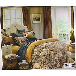 Valtellina 100% Cotton Traditional Design King Size Double Bed Sheet (MA-008)