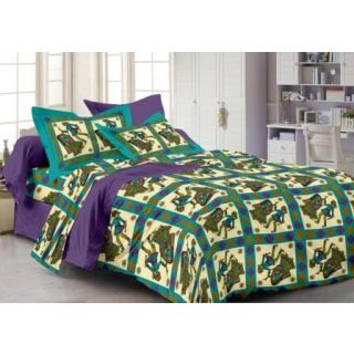 Story@ Home Purple 100% Cotton Fantasy 1 Single Bedsheet with 1 Pillow Cover