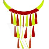 Party Wear Long Red & Green Trendy Set For Women