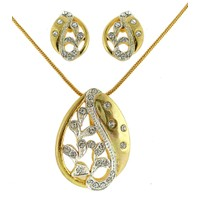 Dg Jewels 24k Gold Plated Amazing Pendant Set-CPS8112