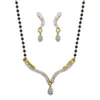 Dg Jewels 24k Gold Plated Bollywood Elegant Mangalsutra Set-CMS7099