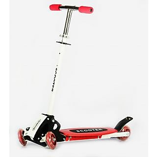 New Innovative Height Adjustable Folding Scooter for Indoor  Outdoor Fun (Red)