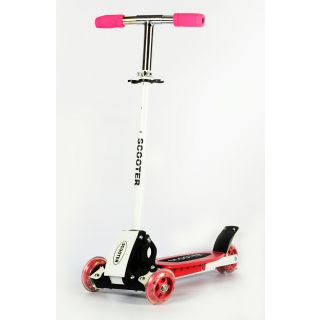 New Innovative Height Adjustable Folding Scooter for Indoor  Outdoor Fun (Pink)