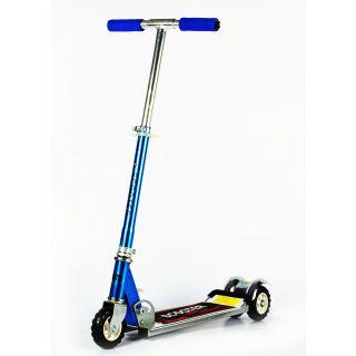 Heavy Metallic Big Size 3 Wheel Height Adjustable Kids Folding Scooter (Blue)