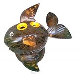 Handmade Coconut Shell Fish Pen Holder