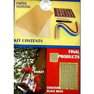 Pie Lane Hobby Crafts Kit for Kids - Paper Weaving Kit Basket, Coasters, Mats