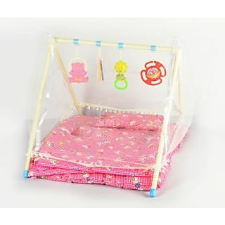 Sunny Baby Bed  Gym with Mosquito Net for Kids  Baby (Pink)