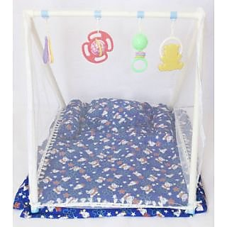 Sunny Baby Bed  Gym with Mosquito Net for Kids  Baby (Dark Blue)