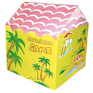 Sand Beach Theme Fun Tent House For Kids Play Indoors or Outdoors
