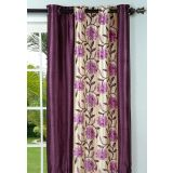 New Elegant Floral Purple Door (7X4 Ft) Curtain