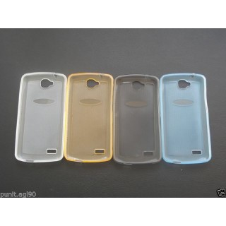Glitter Semi Transparent Soft Silicon Back Case Cover For Huawei Honor Holly U19