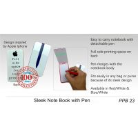 Gromo Sleek Note Book With Pen, Set Of 2 (also For Car Use)