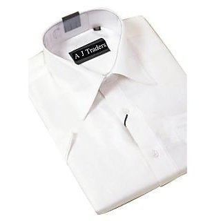 Formal Cotton White Men's Shirt