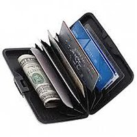 Aluma Aluminium Atm Cash Credit Card Holder Unisex Wallet Purse