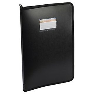 Trio Z20DB4 Zipper Certificate Display File 20 Pockets B4 (Set Of 1, Black)