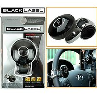 Black Label Car Steering Wheel Power Holder Knob Spinner