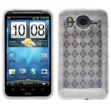 Amzer 90741 Luxe Argyle High Gloss Tpu Soft Gel Skin Case - Clear For Htc Desire Hd