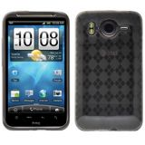 Amzer 90742 Luxe Argyle High Gloss Tpu Soft Gel Skin Case - Smoke Grey For Htc Desire Hd