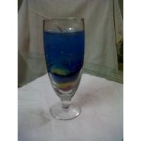 Decore Set Of Two Gel Candles In Blue Color