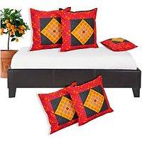 Salona Bichona 100% Cotton Cushion Covers Set of 5