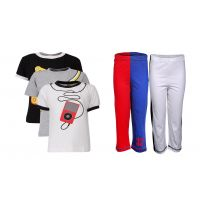 Goodway Pack Of 5 Boys Style 3Pack Tee-Bwg & Boys 2Pack Fashion Full Pant Combo Pack (JB2-CMB5+STY-6-BWG)