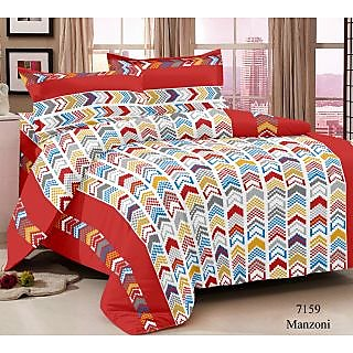 Story Home Multi Colour 100 Cotton Magic 1 Double Bedsheet With 2 Pillow Cover-MG1274