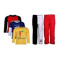 Goodway Pack Of 5 -Boys Did You Know Col 3Pack Tee & Boys 2Pack Fashion Full Pant Combo Pack (JB2-CMB4+LSL-DYK-3-COL)