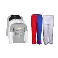 Goodway Pack Of 5 -Boys Did You Know Bwg 3Pack Tee & Boys 2Pack Fashion Full Pant Combo Pack (JB2-CMB5+LSL-DYK-5-BWG)