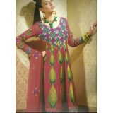 Rivaa Maroon Faux Georgette Embroidered Unstitched Anarkali Suit With Dupatta