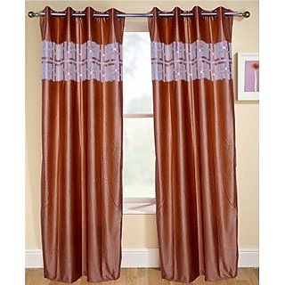 Fresh From Loom  Classy Eyelet Curtain Set of 2 (046GDSkin2-9)