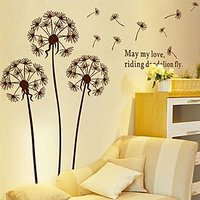 Wall Decals Brown Blowing Dandelion