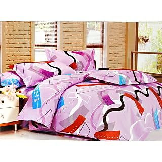 Valtellina Polycotton Abstract Double Bedsheet (RBY-00007)
