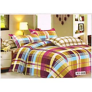Valtellina Polycotton Abstract Double Bedsheet (RBY-00009)