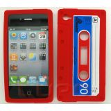 Retro Icassette Iphone Case For Iphone 4 & 4s - Red