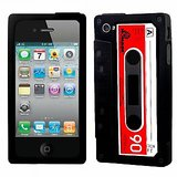 Retro Icassette Iphone Case For Iphone 4 & 4s - Black