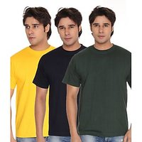 Weardo Men T-shirts Crew Combo Yellow/Blue/Green