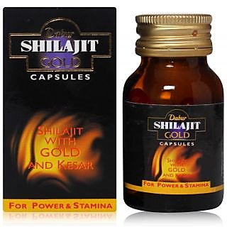 Dabur Shilajit Gold Capsules Pack of 20 Capsules  Concealed Shipping  available at ShopClues for Rs.329