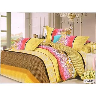 Valtellina Polycotton Abstract Double Bedsheet (RBY-000012)