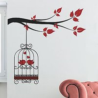 Wall Stickers Wall Decals Lovely Birds Couple In Cage