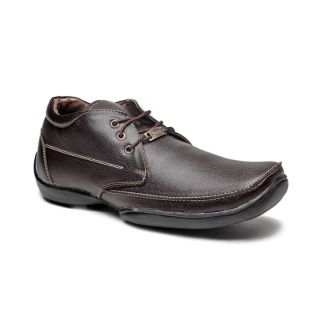 Foot 'n' Style Composed Dark Brown Ankle Length Shoes (fs122)