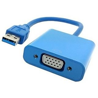 USB 3.0 To VGA HDMI Cable (Blue)