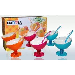 6pcs set ice cream fancy bowls(nayasa)