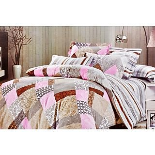 Valtellina Polycotton   Abstract Double Bedsheet (RBY-000021)